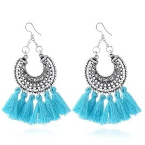 Jewelry - 💙BLUE TASSLE EARRINGS 💙